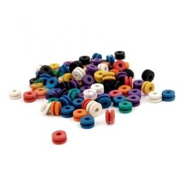 Gromets colores caucho 25 unid
